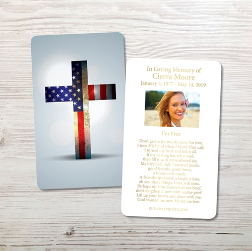Picture of American Cross Gold Foil Memorial Card