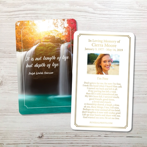 Picture of Depth Of Life Premium Prayer Card