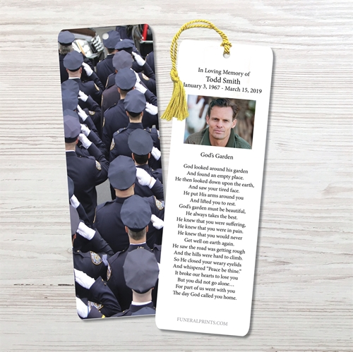 Picture of Police Salute Bookmark