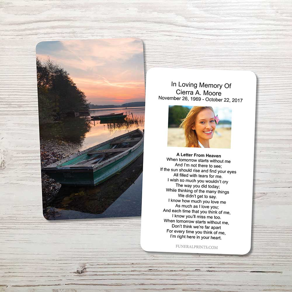 Picture of Lake Sunrise Memorial Card