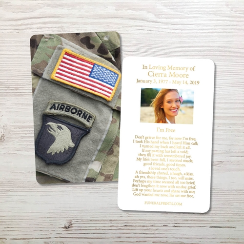 Picture of Airborne Gold Foil Memorial Card