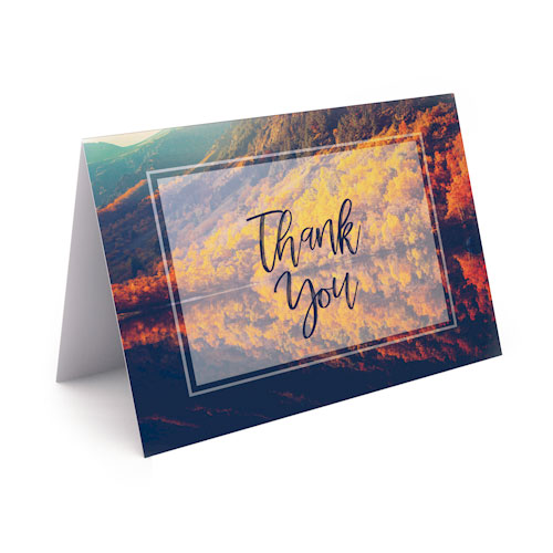Picture of Lake Reflection Thank You Card