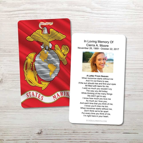 Picture of Marine Flag Memorial Card