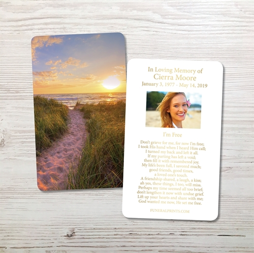 Picture of Pathway Home Gold Foil Memorial Card