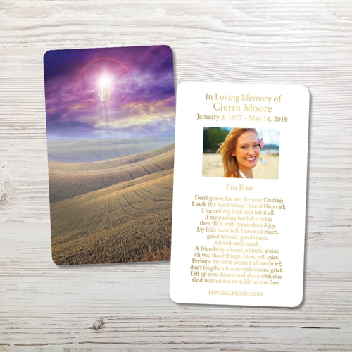 Picture of New Beginning Gold Foil Memorial Card