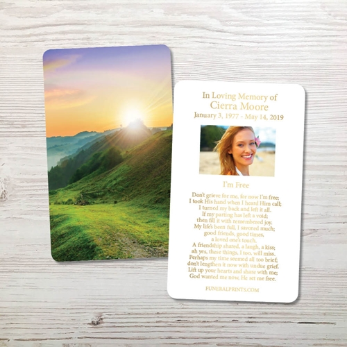 Picture of Mountain Rainbow Gold Foil Memorial Card