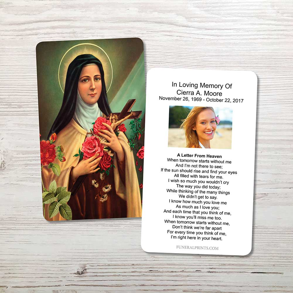 Picture of St. Therese Memorial Card