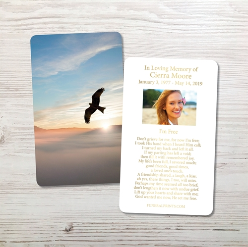 Picture of Sunrise Dove Gold Foil Memorial Card
