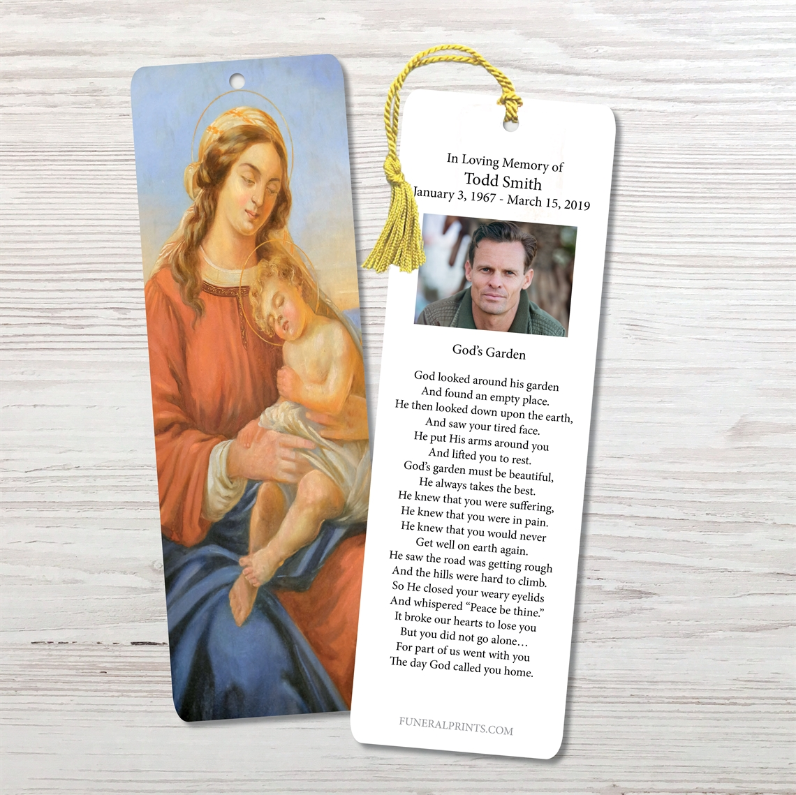 Picture of Mary & Baby Jesus Bookmark