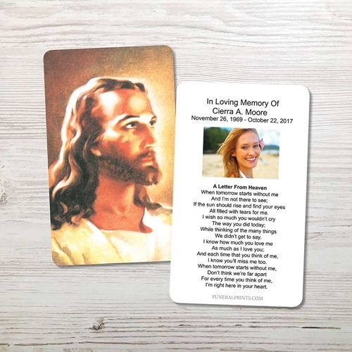 Picture of Jesus 2 Memorial Card