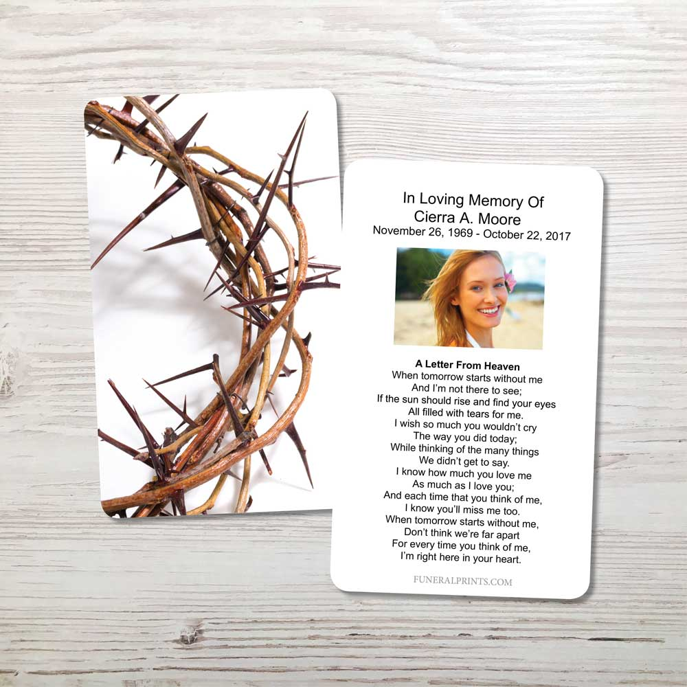 Picture of Crown of Thorns Memorial Card