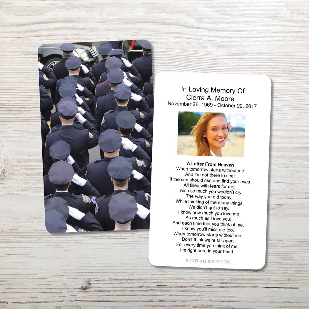 Picture of Police Salute Memorial Card