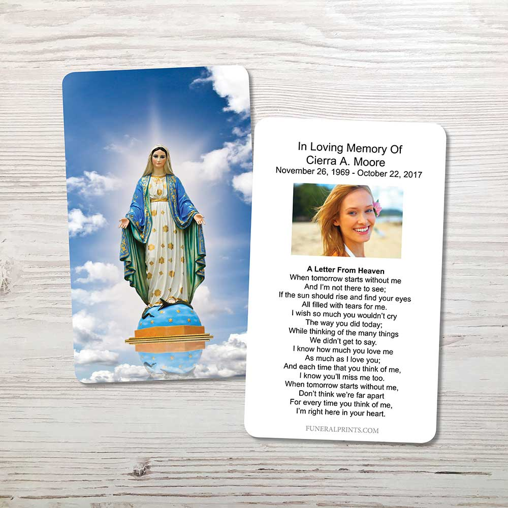 Picture of Virgin Mary Memorial Card