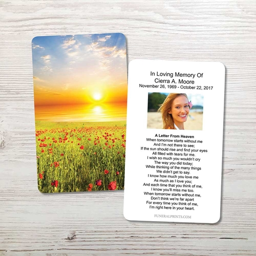 Picture of Sunset Field Memorial Card