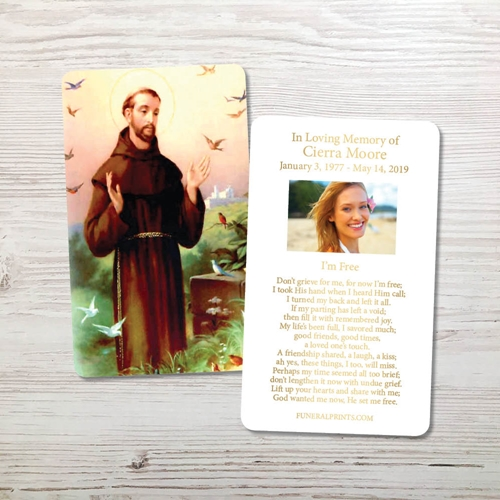 Picture of St. Francis 2 Gold Foil Memorial Card