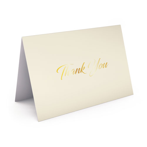Picture of Cream Card with Gold Foil Thank You Card