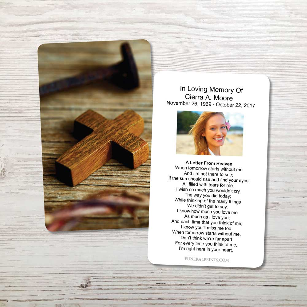 Picture of Cross & Nail Memorial Card