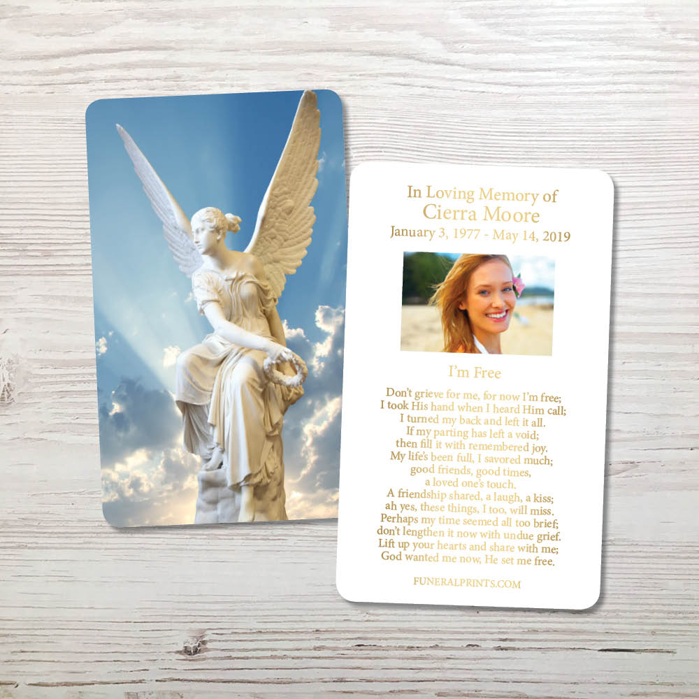 Picture of Angel 2 Gold Foil Memorial Card