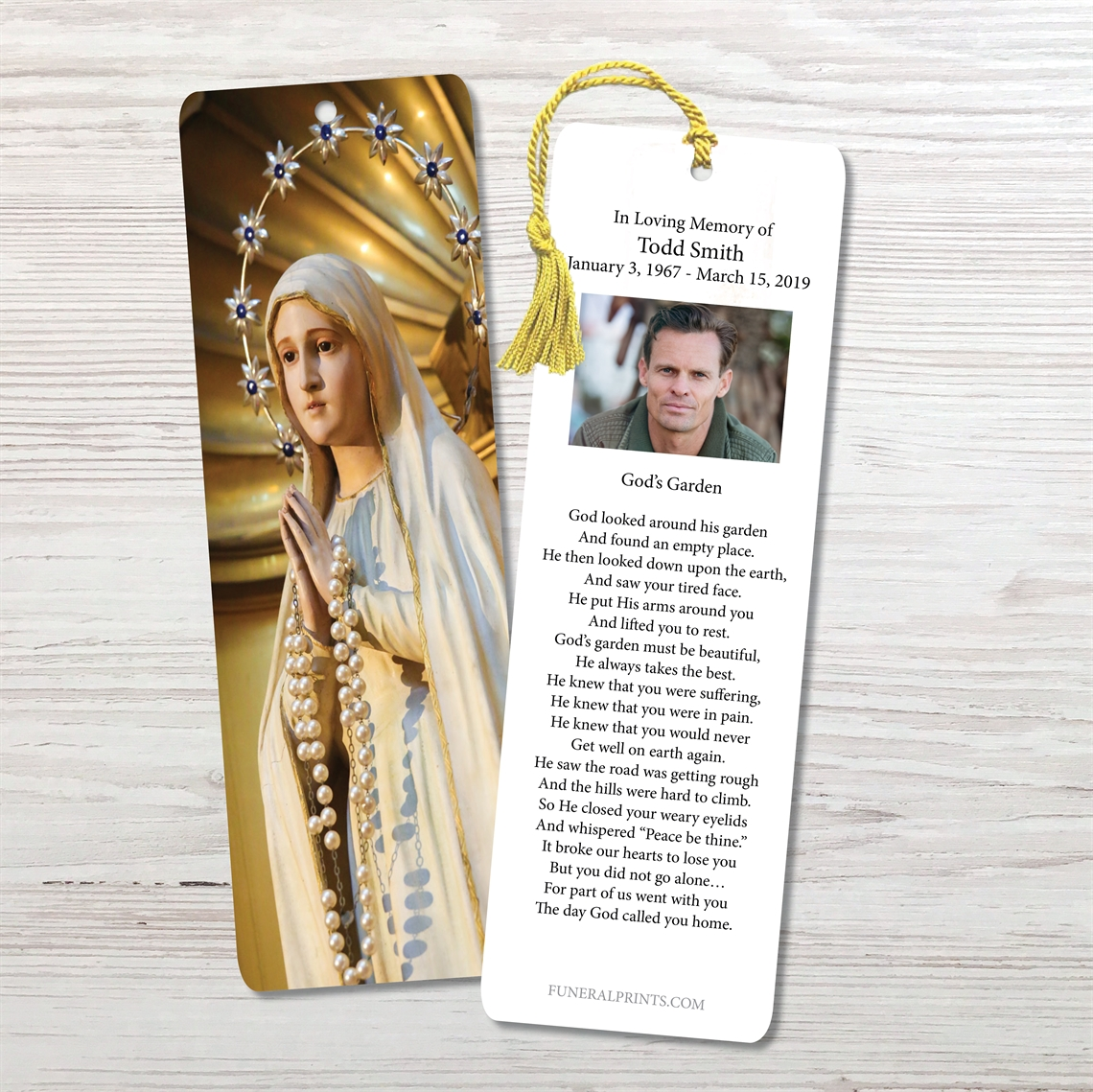 Picture of Statue of Blessed Virgin Bookmark