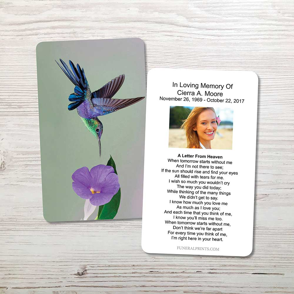 Picture of Hummingbird Memorial Card