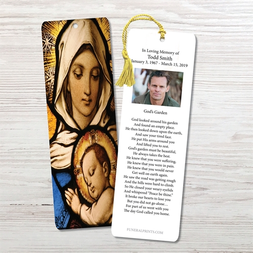 Picture of Virgin Mary with Baby Jesus Bookmark