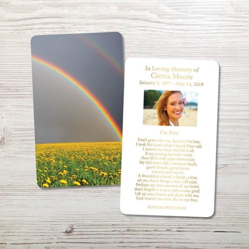 Picture of Rainbow Gold Foil Memorial Card