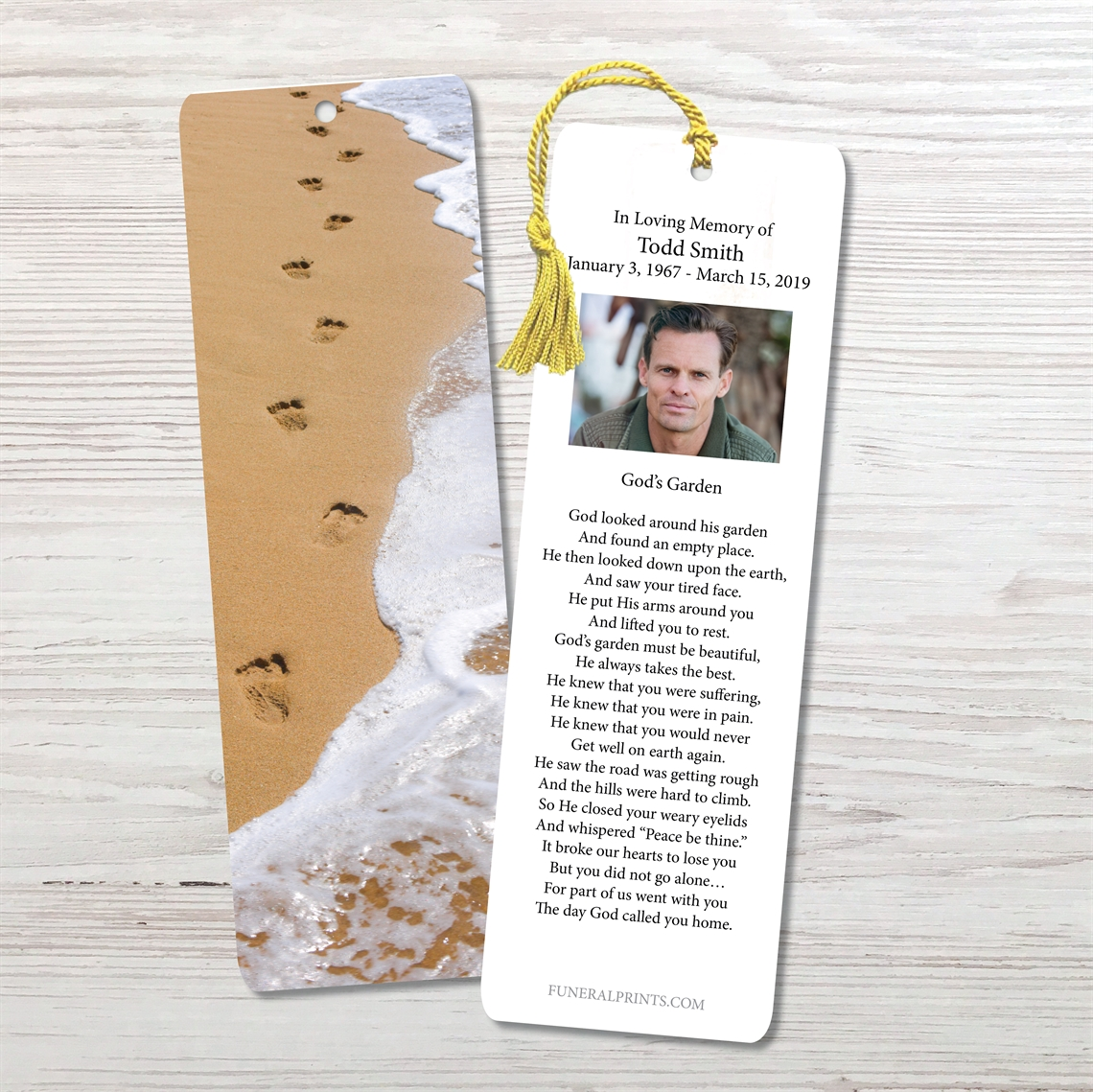 Picture of Foot Prints Bookmark