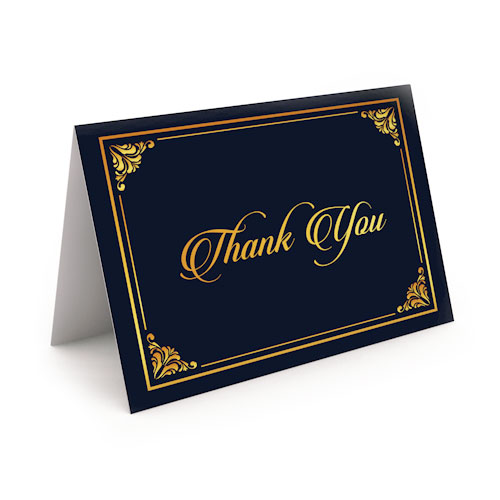 Picture of Classic Black with Gold Thank You Card