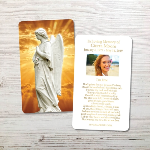 Picture of Angel 1 Gold Foil Memorial Card