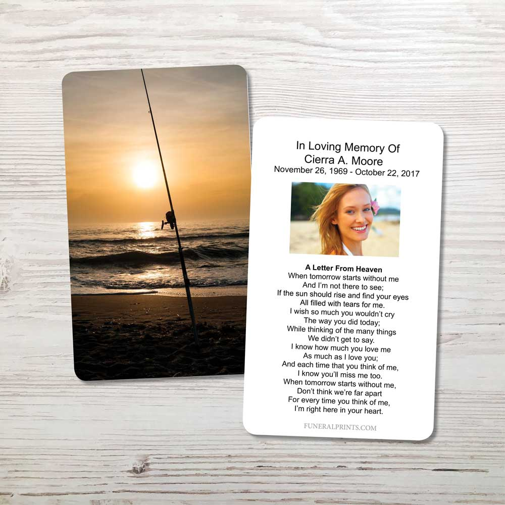 Picture of Fishing Pole Memorial Card